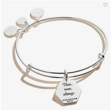Load image into Gallery viewer, Alex and Ani I Love You Bangle in Silver