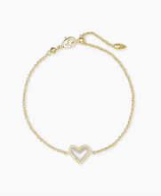 Load image into Gallery viewer, Kendra Scott Ari Heart Bracelet Gold - Ivory Mother of Pearl