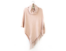 Load image into Gallery viewer, Chenille Cowl Neck Poncho