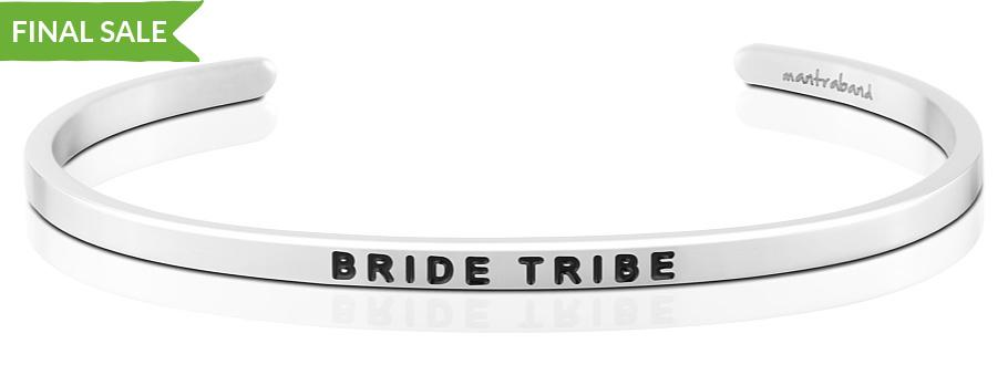 Bride Tribe MantraBand for Bridesmaids SALE in silver or rose gold