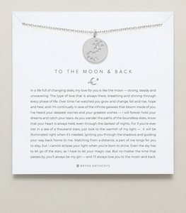 Bryan Anthonys To the Moon and Back Necklace- Silver or Gold