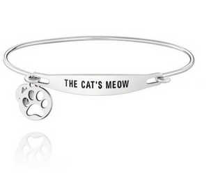 Chamilia The Cat's Meow Sterling Silver ID Bangle