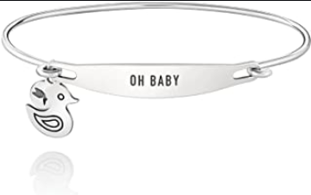 Chamilia Oh Baby Sterling Silver ID Bangle