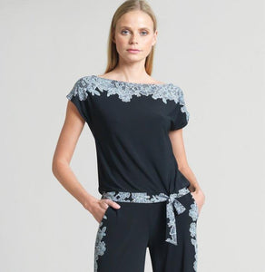 Clara Sunwoo Lace Trim Tie Top