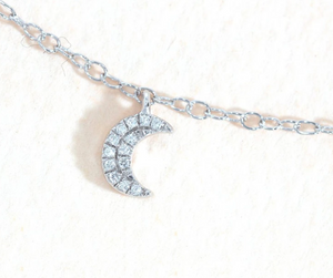 Crescent Moons Diamond Necklace