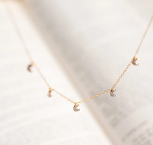 Load image into Gallery viewer, Crescent Moons Diamond Necklace