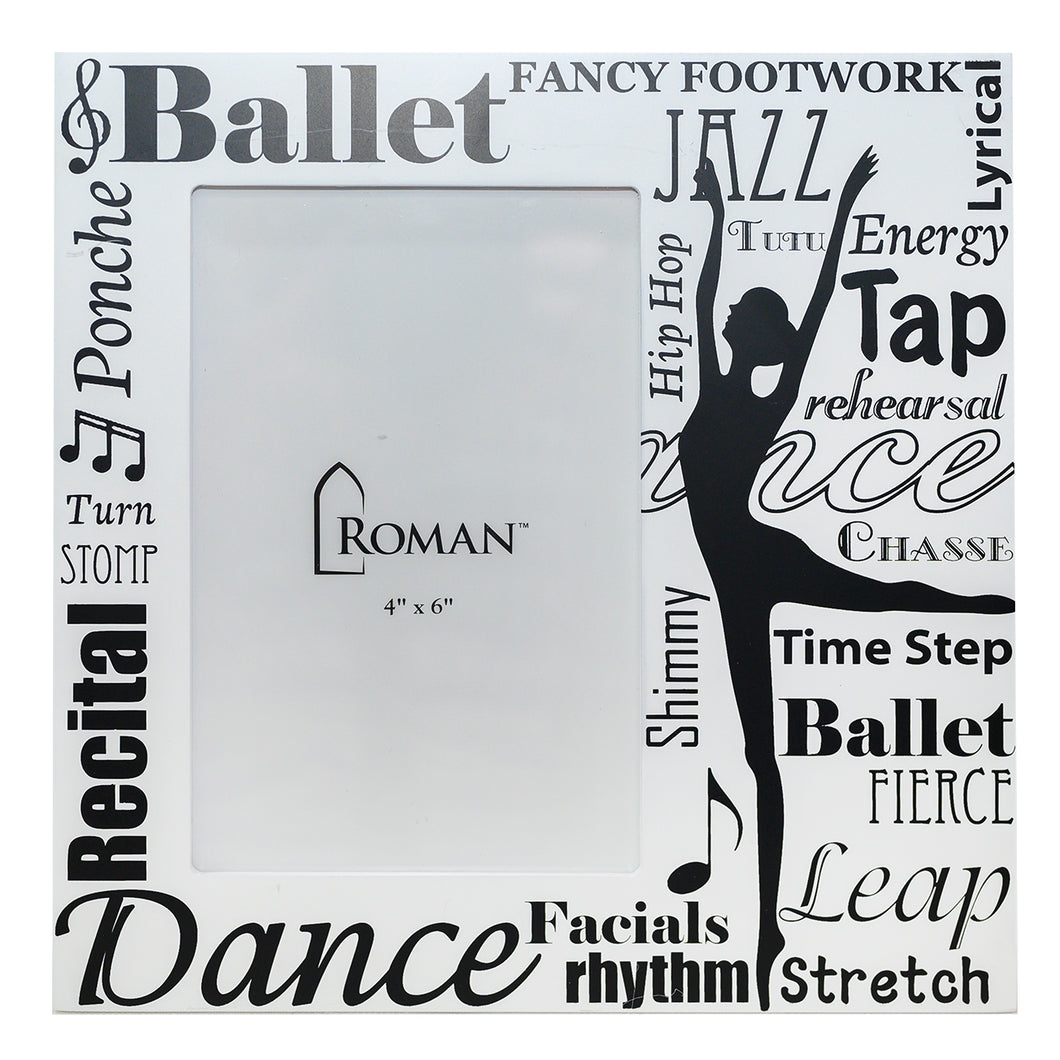 Dance Word Art 4x6 Picture Frame