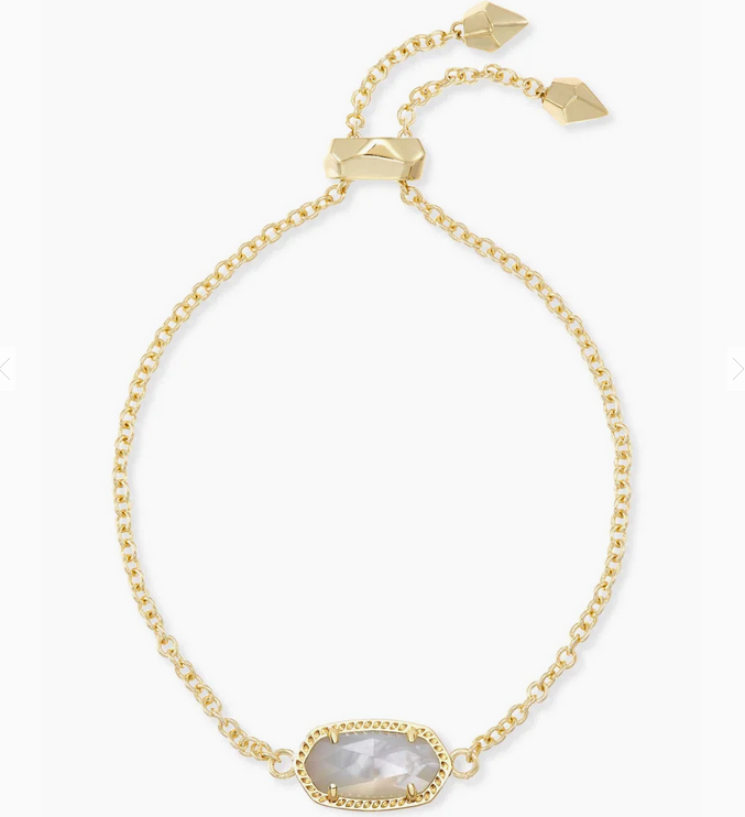 Kendra Scott Gold Elaina Bracelet - Ivory Mother of Pearl