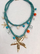 Load image into Gallery viewer, Beaded Starfish Necklace