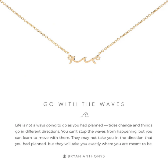 Bryan Anthonys Go with the Waves Necklace- Silver or Gold