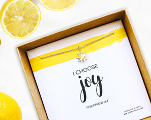 Sterling Silver I Choose Joy Necklace