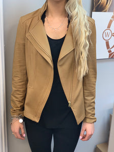 Clara Sunwoo Camel Liquid Leather Jacket