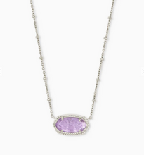 Load image into Gallery viewer, Kendra Scott Silver Elisa Necklace with Satellite Chain - Amethyst