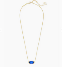 Load image into Gallery viewer, Kendra Scott Gold Elisa Necklace- Cobalt Blue Cat's Eye