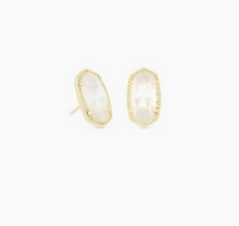 Load image into Gallery viewer, Kendra Scott Gold Ellie Earring in Ivory Mother of Pearl