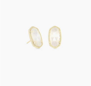 Kendra Scott Gold Ellie Earring in Ivory Mother of Pearl