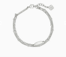 Load image into Gallery viewer, Kendra Scott Multi Stranded Fern Bracelet in Silver