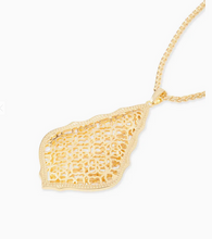 Load image into Gallery viewer, Kendra Scott Aiden Gold Filagree Long Necklace