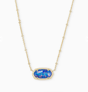 Kendra Scott Elisa Indigo Kyocera Opal with Satellite Chain
