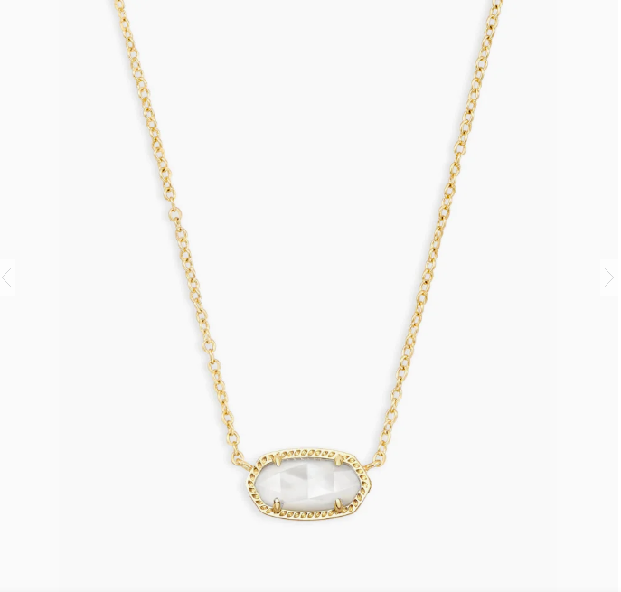 Kendra Scott Gold Elisa in Ivory Mother of Pearl