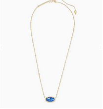 Load image into Gallery viewer, Kendra Scott Elisa Indigo Kyocera Opal with Satellite Chain