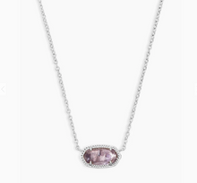 Load image into Gallery viewer, Kendra Scott Elisa Purple Amethyst Necklace in Silver