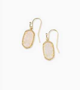 Kendra Scott Lee Earring Gold in Iridescent Drusy