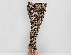 Leopard Fleece Lined Leggings