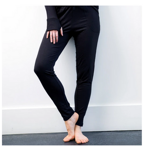 Black Drawstring Lounge Pants