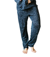 Load image into Gallery viewer, Heathered Black Drawstring Lounge Pants Size XL