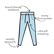 Load image into Gallery viewer, Black Drawstring Lounge Pants