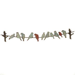 Distressed Metal Birds Wall Decor