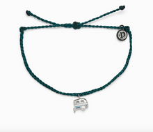 Load image into Gallery viewer, Pura Vida Happy Camper Charm Bracelet in Teal and Dark Red