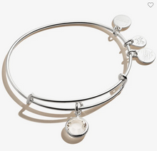 Load image into Gallery viewer, Alex and Ani April Birthstone Clear Crystal Bracelet