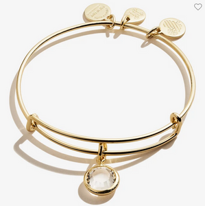 Alex and Ani April Birthstone Clear Crystal Bracelet