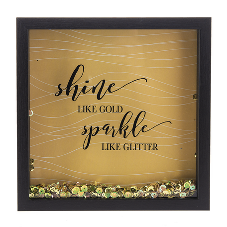 Shine Like Gold Sparkle Like Glitter-Sequin Box Plaque