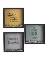 Load image into Gallery viewer, Shine Like Gold Sparkle Like Glitter-Sequin Box Plaque