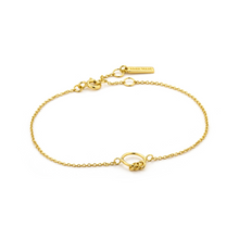 Load image into Gallery viewer, Sterling Gold Modern Circle Bracelet