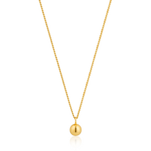 Load image into Gallery viewer, Sterling Gold Orbit Ball Necklace