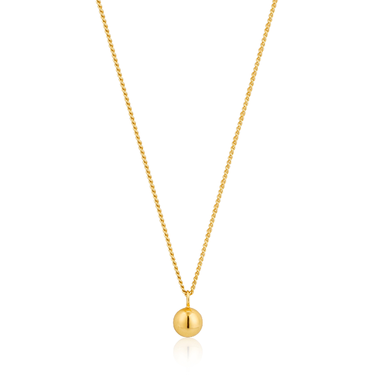 Sterling Gold Orbit Ball Necklace