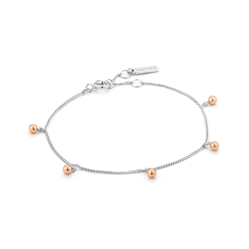 Sterling Silver Orbit Drop Bracelet