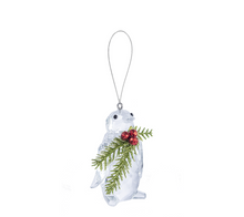 Load image into Gallery viewer, Kissing Krystals Penguin Ornament