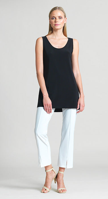 Long Scoop length Tank- wrinkle free, made in the USA by Clara Sunwoo