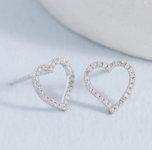 Load image into Gallery viewer, Take Heart Diamond Earrings