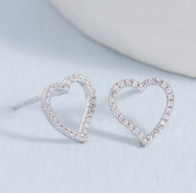Take Heart Diamond Earrings