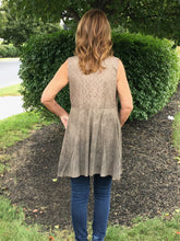 Load image into Gallery viewer, Tan Suede and Lace Vest