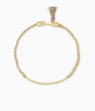 Load image into Gallery viewer, Kendra Scott Addison Friendship Bracelet Gold with White Cord