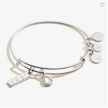 Load image into Gallery viewer, Alex and Ani Woof Duo Silver Bracelet