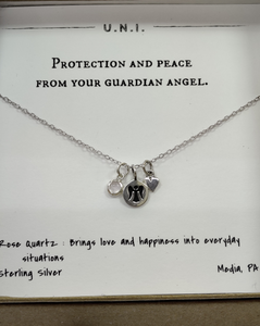 Protection and Peace Guardian Angel Necklace