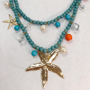 Beaded Starfish Necklace
